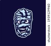 mummy mascot esport logo vector ... | Shutterstock .eps vector #1939129960