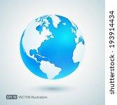 vector earth icon | Shutterstock .eps vector #193914434