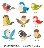 set of cute little colorful... | Shutterstock . vector #1939146169