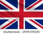 Flag of united kingdom. fabric...