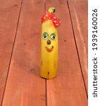 Banana. Cheerful Smiling Banana ...