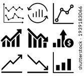 chart icon vector set. analysis ... | Shutterstock .eps vector #1939183066