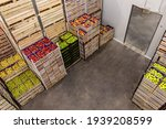 Apples And Pears In Crates...