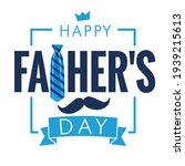 happy fathers day calligraphy... | Shutterstock .eps vector #1939215613