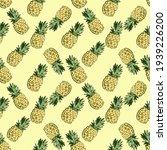 Color Seamless Pineapple...