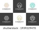 luxury line art nature flower...   Shutterstock .eps vector #1939229470