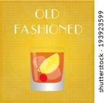 drinks list old fashioned with... | Shutterstock .eps vector #193923599