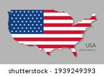 map of usa with national flag....   Shutterstock .eps vector #1939249393