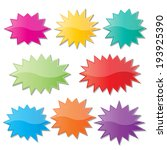 set of blank colorful paper... | Shutterstock .eps vector #193925390