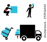 An Image Of A Warehouse Icons.