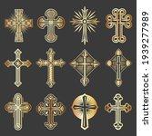 vector collection of crosses...   Shutterstock .eps vector #1939277989