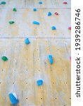 Limbing Wall With Grips Wooden