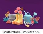 the watering shower is... | Shutterstock . vector #1939295773
