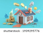 the house is surrounded by a... | Shutterstock . vector #1939295776