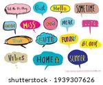 cute vector speech bubble...   Shutterstock .eps vector #1939307626
