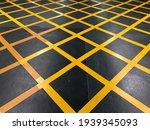 Yellow Traffic Boxes On Tarmac...