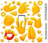collection of various emoji...   Shutterstock .eps vector #1939356820