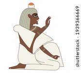 seated ancient egyptian man or... | Shutterstock .eps vector #1939366669