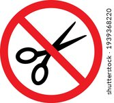 no scissors sign. sharp objects ... | Shutterstock .eps vector #1939368220