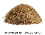 Hay Pile Isolated On A White...