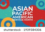 may is asian pacific american... | Shutterstock .eps vector #1939384306