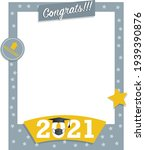 gray and yellow photo frame... | Shutterstock .eps vector #1939390876