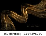 abstract shiny color gold wave... | Shutterstock .eps vector #1939396780