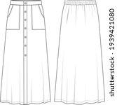 women's button front  front...   Shutterstock .eps vector #1939421080