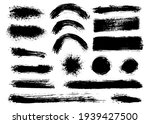 brush strokes bundle. vector... | Shutterstock .eps vector #1939427500