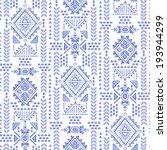 tribal vintage ethnic seamless...   Shutterstock .eps vector #193944299