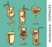 summer cocktails | Shutterstock .eps vector #193946153