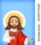 isolated jesus cartoon... | Shutterstock .eps vector #1939473169