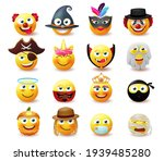 emoji costume character vector... | Shutterstock .eps vector #1939485280