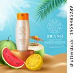 cosmetics sunscreen product... | Shutterstock .eps vector #1939485289