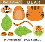cute tiger appearing from... | Shutterstock .eps vector #1939528570