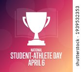 National Student   Athlete Day. ...