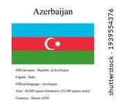azerbaijan national flag ... | Shutterstock .eps vector #1939554376