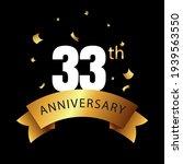 33 year anniversary celebration ... | Shutterstock .eps vector #1939563550