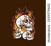 fire skull head design... | Shutterstock .eps vector #1939579603