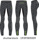 compression tights pants ... | Shutterstock .eps vector #1939585009