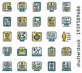 electronic patient card icons...   Shutterstock .eps vector #1939589686