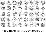 spiritual practices icons set....   Shutterstock .eps vector #1939597606