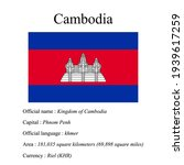 cambodia national flag  country'... | Shutterstock .eps vector #1939617259