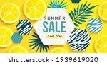 summer sale horizontal banner...   Shutterstock .eps vector #1939619020