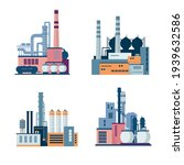 set of industrial factory and... | Shutterstock .eps vector #1939632586