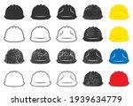 construction safety helmet icon ... | Shutterstock .eps vector #1939634779
