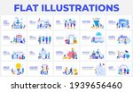 set of flat illustrations with... | Shutterstock .eps vector #1939656460