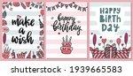 set of cute happy birthday... | Shutterstock .eps vector #1939665583