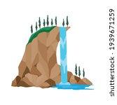 cartoon river waterfall.... | Shutterstock .eps vector #1939671259