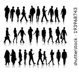 silhouette of business people... | Shutterstock .eps vector #193968743
